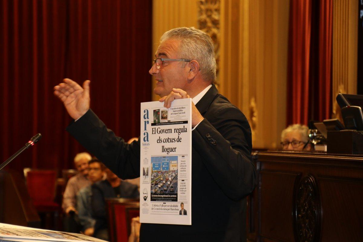 Jaume Font, del Grup Parlamentari El Pi-Proposta per les Illes Balears